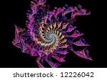 a fractal with a spiral or... | Shutterstock . vector #12226042
