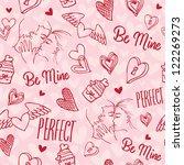 seamless love pattern | Shutterstock .eps vector #122269273
