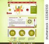 cooking website design template   Shutterstock .eps vector #122282533