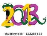 snake biting 2013 on a white... | Shutterstock . vector #122285683