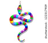 Snake Psychedelic Rainbow - stock photo