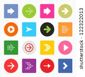 arrow sign icon set. simple... | Shutterstock .eps vector #122322013