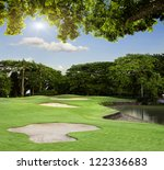 golf course in bali | Shutterstock . vector #122336683