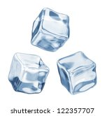 ice cubes on a white background | Shutterstock . vector #122357707