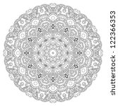 lace circle silhouette on a... | Shutterstock .eps vector #122366353