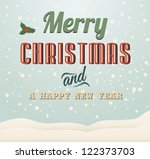 christmas greeting card.vector... | Shutterstock .eps vector #122373703