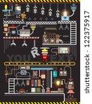 robot engineering  robot... | Shutterstock .eps vector #122375917