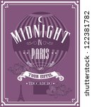 vintage paris template vector/illustration - stock vector