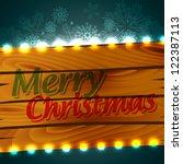 stylish merry christmas design... | Shutterstock .eps vector #122387113