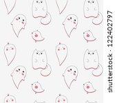 cute ghost | Shutterstock .eps vector #122402797