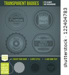 set of transparent badges.... | Shutterstock .eps vector #122404783