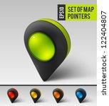 black map pointer icon. vector | Shutterstock .eps vector #122404807