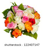 Round Bouquet Of Multicolored...