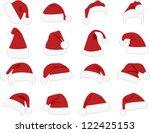 hat of santa claus on white...   Shutterstock .eps vector #122425153