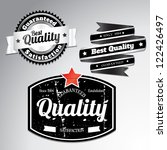 premium quality labels with... | Shutterstock .eps vector #122426497