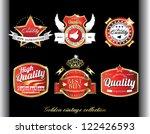 vintage retro golden quality... | Shutterstock .eps vector #122426593