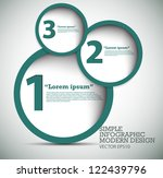 Modern Design template used for infographics numbered banners graphic or website layout vector - stock vector