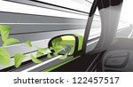 ecology car with a lot of... | Shutterstock . vector #122457517