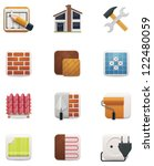 House renovation icon set. Part 1 - stock vector