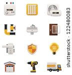 House renovation icon set. Part 2 - stock vector