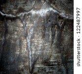 scratched grunge metal plate  ... | Shutterstock . vector #122487997