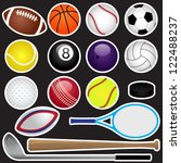 vector sports set | Shutterstock .eps vector #122488237