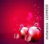 red christmas background | Shutterstock .eps vector #122498533