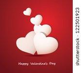 valentine's day background | Shutterstock .eps vector #122501923