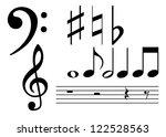 note set | Shutterstock .eps vector #122528563