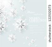 christmas snow | Shutterstock .eps vector #122532073