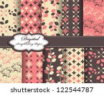 set of flower vector paper for... | Shutterstock .eps vector #122544787