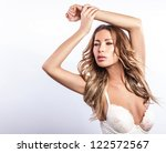 sexy woman in swimsuit pose in... | Shutterstock . vector #122572567
