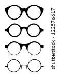set of round vector glasses ... | Shutterstock .eps vector #122576617