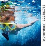 close up underwater portrait of ... | Shutterstock . vector #122581753