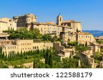 Gordes medieval village in Southern France (Provence) - stock photo