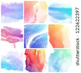 set of colorful abstract water...   Shutterstock . vector #122622397