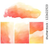 set of colorful abstract water...   Shutterstock . vector #122622523