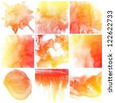 set of colorful abstract water...   Shutterstock . vector #122622733