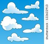 fun cloud cartoon vector | Shutterstock .eps vector #122622913