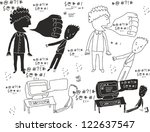 verbal bullying | Shutterstock .eps vector #122637547