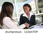 a pretty african american...   Shutterstock . vector #12264709