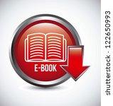 e book button over gray...   Shutterstock .eps vector #122650993