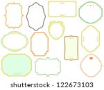 vector frames coloured set