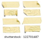 collection of  various adhesive ... | Shutterstock . vector #122701687