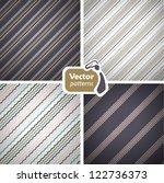 set of 4 stylish seamless...   Shutterstock .eps vector #122736373