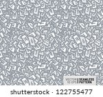 seamless pattern with numbered... | Shutterstock .eps vector #122755477
