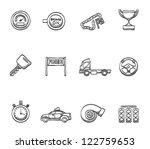 racing icon series in sketch | Shutterstock .eps vector #122759653