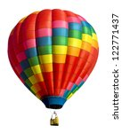Hot air balloon isolated on...