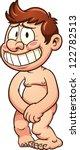naked little man. vector clip... | Shutterstock .eps vector #122782513