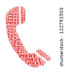 police text collage composed in ... | Shutterstock . vector #122792503